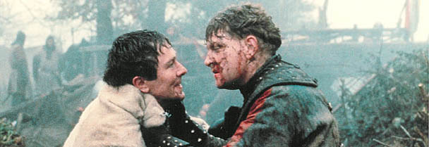 Kenneth Branagh, right, in Henry V - a role that got him noticed in Hollywood