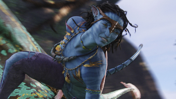 Zoe Saldana as Neytiri in Avatar